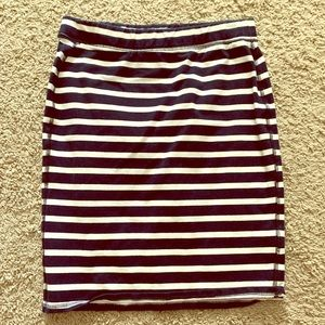 Old Navy Skirts - Old Navy, Navy and White nautical mini skirt
